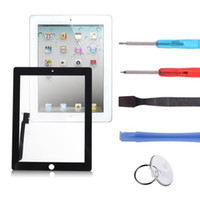 Wholesale Original Front Panel Black Screen Touch Glass Digitizer Replacement Free Repair Tools For Apple iPad nd Gen