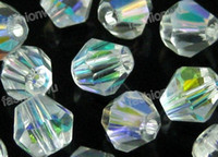 Wholesale Hot Sale MM Transparent Bicone AB Crystal Loose Beads