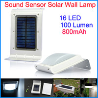 lamp saving lamp - Solar Powered Outdoor Security Light Sound Sensor Solar light Solar Panel LED Energy saving lamp LED Wall Lamp lights for home Garden