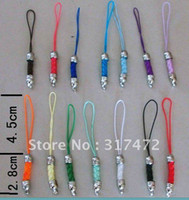 Wholesale Mix Clor Weave Key Chain Ring Holder Mobile Phone Chain MP3 MP4 Mobile Phone Strap Mobile Phone Pendant