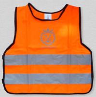 Wholesale Low stretch yarn children s reflective vest Reflective vest pupil reflective clothing traffic safety vest