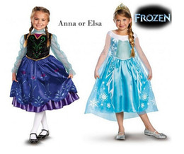 Wholesale Summer fashion girl elsa or gentle princess Ann children children clothing yarn dress lace dress summer PC many girls party