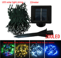 Cheap HI-Q 2014 Hot Sale Free Shipping 22m 200 LED Solar String Lights multicolor Lamp Outdoor waterproof Garden rode building Xmas Decoration