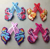 animated cartoons - My little pony Children Headwear Side clip Animated cartoon Headwear BB Clips hairpin