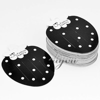 Wholesale Paper Balck Strawberry Hair Clips Jewelry Packaging Display Cards x63mm DC75