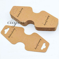 Wholesale Brown Kraft Paper Necklace Pendant Bracelet Jewelry Packaging Display Cards x44mm DC61