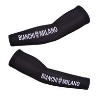 Wholesale 2014 BIANCHI MILANO BLACK Cycling ARM Warmers Sleeve Spandex Coolmax Lycra UV Protection Size S XXL B08