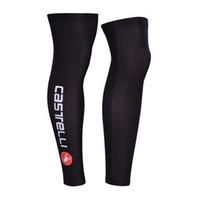 Leg Warmers Adult (Men) S-XXL 2014 CASTELLI PRO BLACK Cycling Sport Leg Warmers Sleeve Spandex Coolmax Lycra UV Protection Size:S-XXL C087
