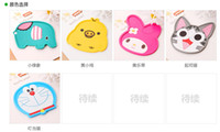 Wholesale WSZZM cute cartoon Creative cartoon silicone insulated pad fashion cup mat cup mat mat bowl dish dish styles a dozen of