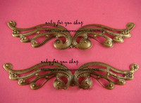 Wholesale Free ship mmx100mm antique bronze Phoenix wing metal pendant filigree stamping spacer for jewelry making