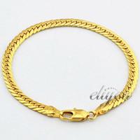 5mm de Joyas de Moda para Hombre Mujer de 18 quilates en Oro Amarillo Lleno de Pulsera Sólida de Frenar el Enlace de la Cadena de GF de Oro de la Joyería de la Boda de Envío Gratis DJB01