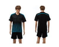 Wholesale 2014 Chelsea Away Black Soccer Jersey Pant Soccer Kits Mens Football Uniforms able custom name number