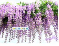 Wholesale party supplies high quality artificial decorative flowers Wistaria vine wall mounted silk wedding flowers cm long