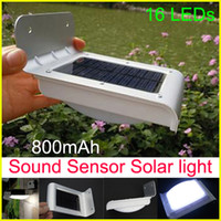 Wholesale Solar motion lamp LED light energy saving outdoor wall Ray Sound Sensor Activated light Waterproof Solar Powered Outdoor Security Light