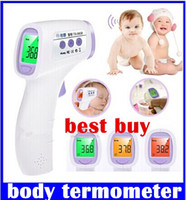 Wholesale New high quality non contact digital lcd baby fever thermometer suitable for use baby child adult body termometer top sale free shippin