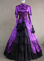 Elegant And Royal Purple Victorian Gothic Dresses,Hot Sale Victorian Lolita Custumes For Wholesale