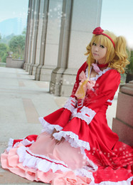Custom Made Black Butler Kuroshitsuji Elizabeth Cosplay Costume,Red Lady Elizabeth Black Butler Gown Dress For Halloween