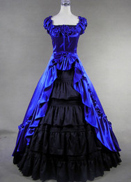 High Quality Royal Blue Victorian Gown Costume,Evening Gowns Party Dresses