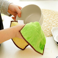 Wholesale Superfine fiber double suction dropping non stick oil dish towels peices