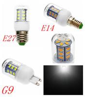 E27 ce smd France-Vente chaude CE ROHS E27 E14 G9 7W 5730 24pcs LED ampoule de maïs lampe Spotlight AC220-240V chaud Cool White 360 Degree super luminosité Expédition / gratuit