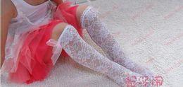 Wholesale New Arrival Fashion Kids Socks Korean Style Hot Sale Girl Princess Socks Bowknot Laciness High Qaulity Base Mid Calf Length Sock