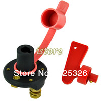Wholesale 5PCS New battery switch cut Storage Disconnect Kill Cut Off Cutoff Battery Switch Brass Terminals Car Boat Truck TK0571