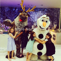 Mascot Costumes Unisex Costum Made Ohlees Fast Free Shipping Frozen sven mascot costume party birthday accept customize