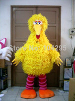 Wholesale Ohlees Fast Sesame Street the big yellow bird mascot costume birthday gift toys cartoon animal mascot customize