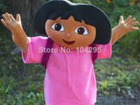 Wholesale ohlees dora htigh quality the EXPLORER cartoon movie character mascot costumes adults size accept costomize