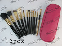 Goat Hair leather pieces - Factory Direct Set New Makeup Brushes Pieces Brush With Leather Pouch