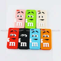 Silicone backed beans - 3D Cute M amp M Chocolate Rainbow Bean Silicon Soft Case Silicone Rubber Back Cover Skin Protector for iPhone S C