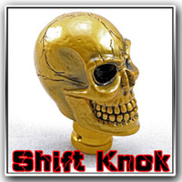 Wholesale Golden Car Manual Gear Shift Lever Knob Shifter Stick Wicked Carved Skull