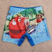 Boy Swim Trunks 2/3y-3/4y-4/5y-5/6y--7/8y Summer kids swimming suits nova 2014 new baby swimwear cars print boy swimming short bathing suits
