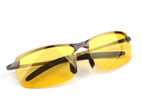 Wholesale Men s Polarized Driving Sunglasses Yellow Lens Night Vision Driving Glasses Goggles Reduce Glare