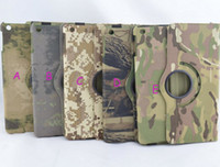 Wholesale cowboy jeans skin camouflage folding stand folio leather case cover skin shell for iPad air fashion folio case