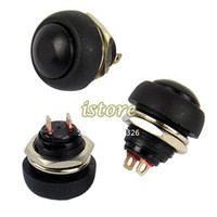 Push Button Switches TK0304# 2.2cmx 1.7cm(Approx) 2013 New 10Pcs Black Momentary OFF (ON) Push Button Horn Switch Dropshipping TK0304