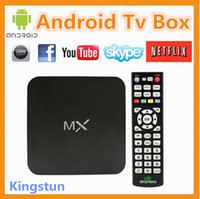 Wholesale Android MX TV Box Thin Client Amlogic Dual core GHz GB RAM GB FREE DHL