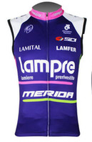 Wholesale Team lampre merida blue Cycling Vest Sleeveless Shirt Summer Sleeveless Cycling Jersey Cycling Clothing maillot