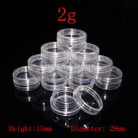 Wholesale Promotion g pc Small Round sample Cream Bottle Jars cc Mini plastic container for nail art storage