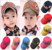 Wholesale 2014 New Fashion Spring Summer Children s Baseball Caps Wash Cloth Kid Cap Sun Hat Top Quality
