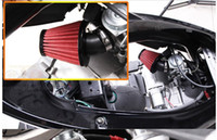 Wholesale New Red Green mm mm mm Clamp Rubber Flange Air Intake Filter for Motorbike Scooters Motorcycle