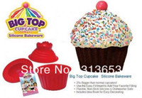 Wholesale new arrival big top cupcake silicon cake mold cake mould cake pan set