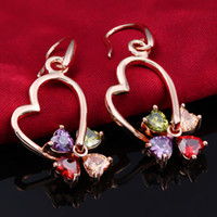 Wholesale Lower price Alloy Earring Silver K White Gold Plated Crystal Earrings YSL18KE003