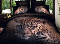 Cheap Fashion bedding set 3d animal leopard bedclothes queen size Duvet Cover bed sheet Linens sets 100%cotton