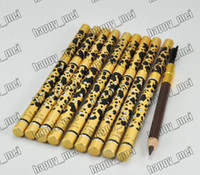 Wholesale Factory Direct Pieces New Leopard New Professional Make up Eyebrow Pencil amp Brush Black Brown