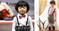 Wholesale Top Sale BOYS GIRLS Suspender Children Clip on Adjustable Elastic Pants Y back Suspender Braces Belt cartoons Black b14