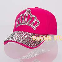 Ball Cap Red Cotton Free shipping wholesale quality rhinestone Smirnoff Crown shaped children girl boy princess baseball caps snapback hats basketball cap
