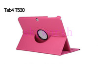 Wholesale 360 Rotating PU Leather Case Cover for Samsung Galaxy Tab Tab4 T530 T330 t230 inch tablet case Smart Sleep Wake up Function