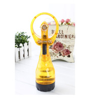 Wholesale Mini Fans Portable Water Spray Cooling hand held fan silent fan USB mini fan fan shaped garden Petit ventilateur