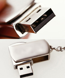 Wholesale libre de DHL USB GB Flash Drive USB de China palillo de memoria Flash del metal del acero inoxidable llavero Llavero giratorio g USB
